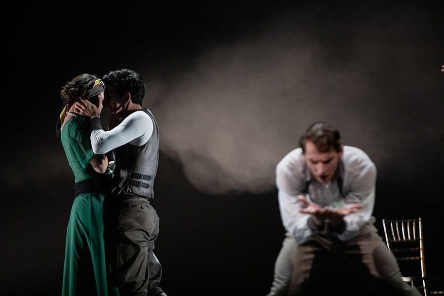 Veliki Gatsby: Yaman Kelemet, Petar Đorčevski in Lukas Bareman; foto: Darja Stravs Tisu; vir: SNG Opera in balet Ljubljana