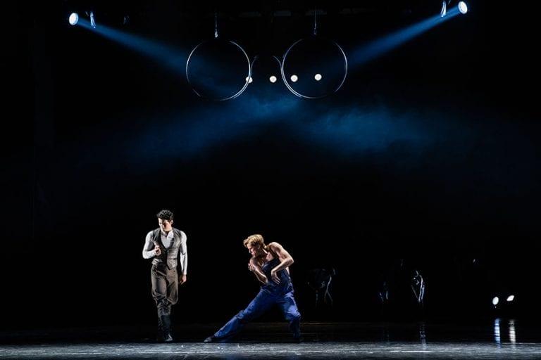 Veliki Gatsby: Petar Đorčevski in Lukas Zuschlag; foto: Darja Stravs Tisu; vir: SNG Opera in balet Ljubljana